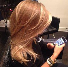 Golden Blonde hair @Lindsey Grande Grande Grande Grande Grande Bush this would look great on you!!!!