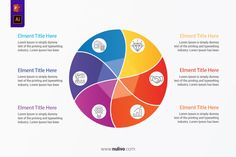 Circular Twisted design template with 6 Steps For PowerPoint best infographic vectors design elements to help you with the presentation of your infographic, very easy to customize. Take a closer look to get started! Circle Infographic, Vector Design, Lorem Ipsum, Get Started, Design Elements, Closer, Vectors, Presentation, Diagram