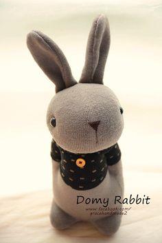 Grace--#372 sock Domy Rabbit