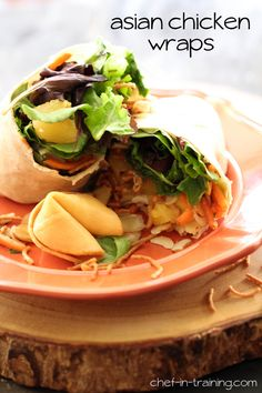 Asian Chicken Wraps from chef-in-training.com ...This is a new and fresh lunch/dinner idea that is packed with delicious flavor and stuffed ...