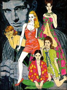 """Ilustración en favor de """"Knight Magazine"""" (1967)."""