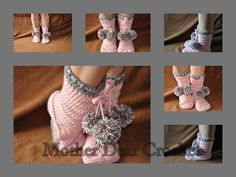 Ravelry: Snowball Booties pattern by Rylie Hansen $