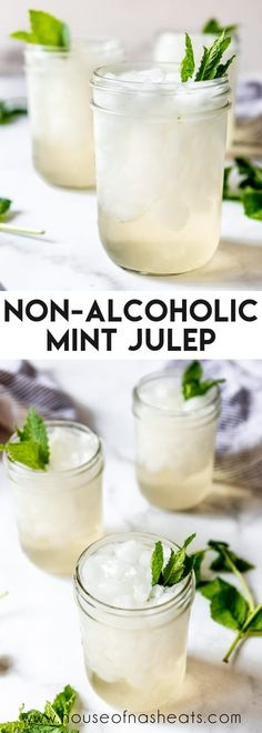 Serve up a Non-Alcoholic Mint Julep to celebrate Derby Day with the whole family! This easy, sweet drink is minty, refreshing, and a fun way to start a new tradition! #nonalcoholic #mintjulep #kentucky #derby #beverage #drink #easy #mint #best Drink Recipes Nonalcoholic, Drinks Alcohol Recipes, Non Alcoholic Drinks, Yummy Drinks, Cold Drinks, Beverages, Cocktails, Easy Dinner Recipes, Breakfast Recipes