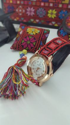 Palestinian Embroidery, Cross Stitch Designs, Clay Art, Couture, Crochet, Bracelet Watch, Sewing, Pattern, Handmade