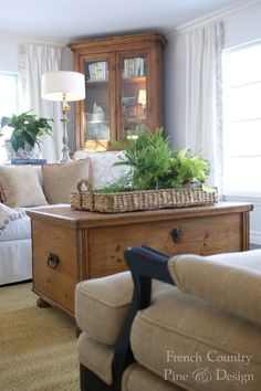 French Country Living Room Design and Remodel by FrenchCountryPineDesign.com