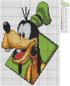 Free Cross Stitch Pattern - Goofy