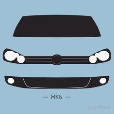 VW Golf MK6 simple front end design