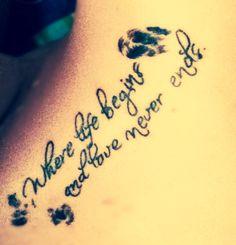 Family fingerprint tattoo   <3 it