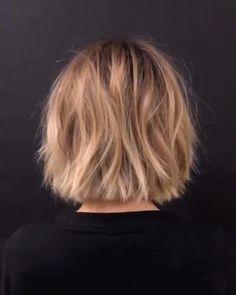 66 Chic Short Bob Hairstyles & Haircuts for Women in 2019 - Hairstyles Trends Bob Style Haircuts, Short Layered Bob Haircuts, Layered Bob Hairstyles, Hairstyles Haircuts, Straight Hairstyles, Bobs For Thin Hair, Lob Haircut, Care Haircut, Corte Y Color