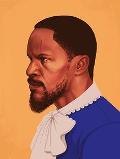 Django. Illustration of Jamie Fox as Django