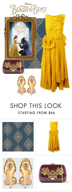 """Senza titolo #3919"" by zenaidarielle ❤ liked on Polyvore featuring York Wallcoverings, Disney, Rochas, Gucci, Emma Watson, Serpui, BeautyandtheBeast and contestentry"
