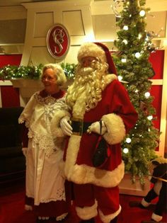 Nordstrom Santa and Mrs. Claus