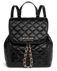 MICHAEL Michael Kors 'Susannah' Quilted Leather Backpack black - Lyst