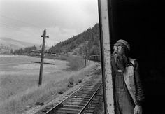 """John Vink - Hobo marylambphotos: """" To fill the void of my own photos I'm going to post a bunch of my favourites. These three are from a series done by John Vink called Hobo. Train Tracks, Train Rides, Day Trips From Denver, Runaway Train, Hobo Chic, Black And White People, Photo B, Free Travel, Nature"""