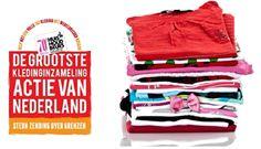 Huishoudbeurs steunt grootste kledinginzamelingsactie