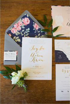 Navy and Pink Wedding Ideas #weddinginvitation