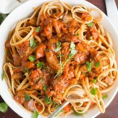 Finely chopped mushrooms give both savory flavor and hearty texture to this easy and flavor-packed vegan pasta Bolognese.