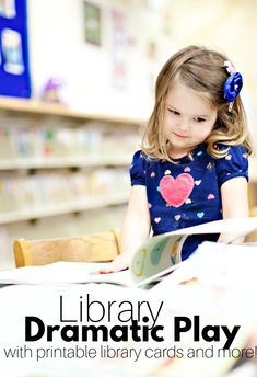 Library dramatic play at preschool - with free printables! Library dramatic play at preschool - with free printables! Education English, Elementary Education, Reading Activities, Kindergarten Activities, Preschool Classroom, Preschool Centers, Preschool Ideas, Craft Ideas, The Very Hungry Caterpillar Activities