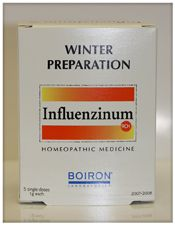 Influenzium is a homeopathic remedy made from the updated influenza vaccine. Since it changes each year according to the antigenic variations detected by the World Health Organization - Influenzium works by giving minute amounts of the virus to the body so the antibodies can be produced in advance and therefore the body is prepared when it does come in contact with the virus. Is safe and effective for the whole family to use. Directions are on the box. No Shots!