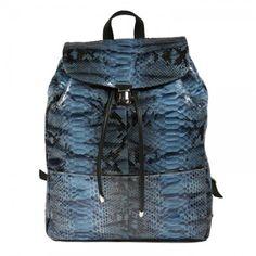 Illesteva Charlie Backpack Blue Python | illesteva