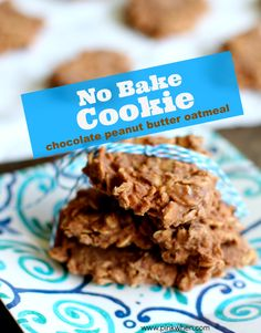 Chocolate Peanut Butter Oatmeal cookies sound delicious right? What if we said there's no baking required? Find the easy, kid-friendly recipe from Pink When Chocolate No Bake Cookies, Dark Chocolate Cakes, Chocolate Oatmeal, Oatmeal Cookies, Peanut Butter No Bake, Peanut Butter Oatmeal, Chocolate Peanut Butter, Cookie Recipes, Dessert Recipes