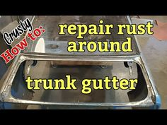 How to repair rust around trunk gutter (project Crusty) - YouTube Rat Rod Build, Auto Body Work, Auto Body Repair, Drag Cars, Rust, Trunks, Projects, Youtube, Garage