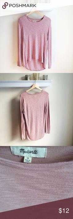Madewell super soft Longsleeve purple knit top med Madewell- Supersoft- Long swinging fit- Touch of stretch fabric- size medium Madewell Tops Tees - Long Sleeve