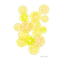 Lemons art print, lemon fruit modern art watercolor painting, modern... (€9,98) ❤ liked on Polyvore featuring home, home decor, wall art, yellow home accessories, yellow wall art, fruit wall art, geometric paintings and fruit paintings