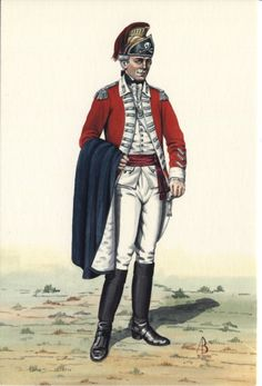 Officer, 17th Light Dragoons, c1775 by Alice Baker. 17th LD were 1 of only 2…