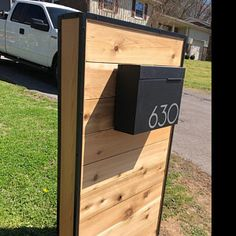 Modern mailbox ELY S - stainless steel design, Wall Mounted mailbox, contemporary - mid-century- lock Wooden Mailbox, Diy Mailbox, Wall Mount Mailbox, Mailbox Post, Mounted Mailbox, Mailbox Ideas, Mailbox With Lock, Farmhouse Mailboxes, Contemporary Mailboxes