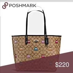 Coach tote pacman bag limited edition New Coach Bags Totes