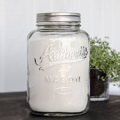 Bocal de cuisine en verre couvercle métal IB Laursen