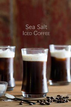 Sea Salt Iced Coffee with Sea Salt Cream from @Todd & Diane (White On Rice Couple)