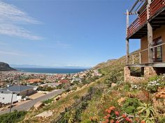 Waterwise indigebous garden on a steep slope high on the hills above Fish Hoek