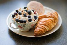 We Heart It の croissant + full cup | via Tumblr