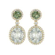 Kiki McDonough Green Tourmaline & Green Amethyst Drop Earrings - $4990