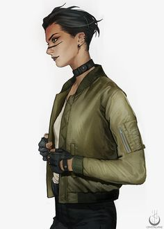 Fish by Crystal Fae Fantasy Character Design, Character Design Inspiration, Character Art, Female Character Concept, Cyberpunk 2020, Sci Fi Characters, Shadowrun, Character Portraits, World Of Darkness