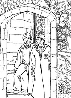 coloring page Harry Potter and the Chamber of Secrets