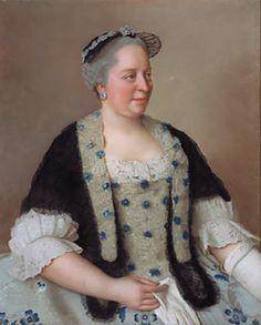 """""""Marie-Thèrese d'Autriche"""" by Jean-Étienne Liotard (1717-1780)"""