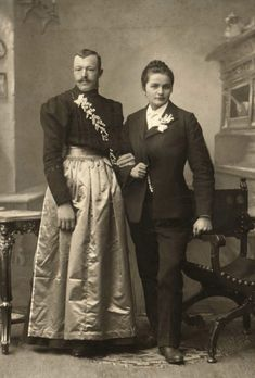 A photograph of Mrs Peacock's great grandparents was found lying beside a fallen lamp in the library.  The family was considered to be a little strange by the neighbours...