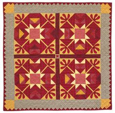 """Looking Back, 52"""" square, pattern at American Patchwork & Quilting. A passion for vintage designs led designer Alice Berg to re-create an antique crib quilt."""
