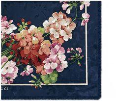 Blooms jacquard silk scarf