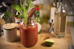 Classic Southern Breakfast Bloody Mary. Bacon is required to make it breakfast.