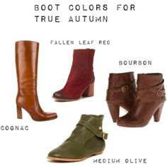 Boot Colors for True Autumn