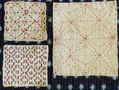 Unplug with Japanese Sashiko Hand Sewing Projects - Vivika Funny Embroidery, Sashiko Embroidery, Hand Work Embroidery, Types Of Embroidery, Embroidery Needles, Beaded Embroidery, Cross Stitch Embroidery, Embroidery Patterns, Print Patterns