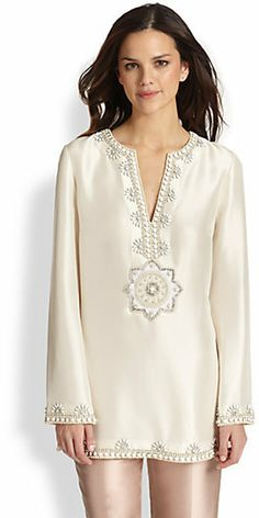 Tory Burch Embroidered Silk Steffi Tunic on shopstyle.com