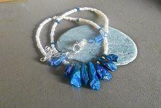 Titanium Quartz Crystal Pearl Necklace Tiny Fresh by PLANETDIGS2, $40.00