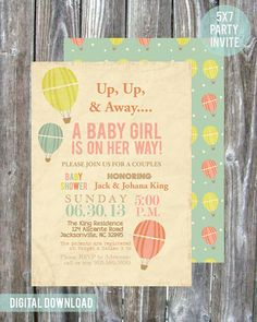 Hot Air Balloon Couples Baby Shower. Love this theme for a baby shower. Sooo cute!
