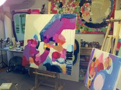 The art studio of Claire Desjardins.