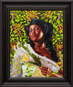 "Kehind Wiley  Mary Litte, Later Lady Carr, 2012 Oil on canvas 30"" x 24"""